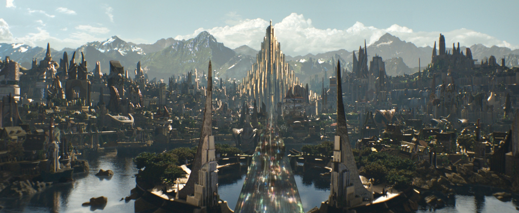 Thor's Asgard mythological places